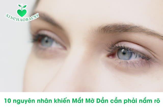 Mắt mờ dần – 10 nguyên nhân và phương pháp trị hiệu quả
